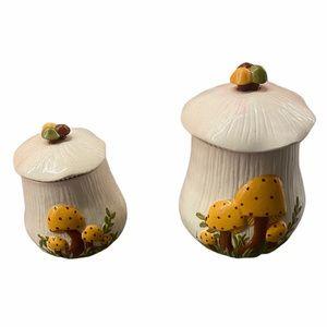 Vintage mushroom 🍄 canisters